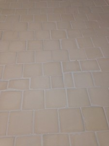 Handmade tiles for under the appliances